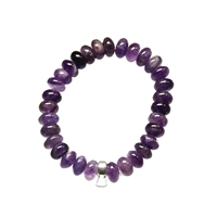 Bracelet Button Amethyst with Charm Holder
