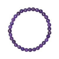 Bracelet, Amethyst extra, Beads 06mm, faceted