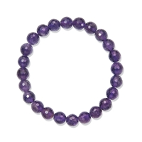 Bracelet, Amethyst extra, 08mm beads, faceted
