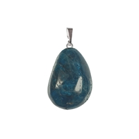Pendant Tumbled Stone Apatite with 925 Silver eye