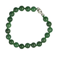 Bracelet, Aventurine, 08mm Beads, with Clasp