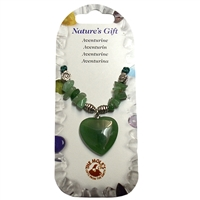 Heart Collier, Aventurine, for Stand-alone display