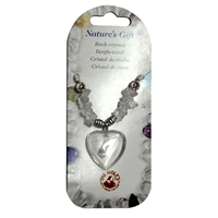 Heart Collier, Rock Crystal, for Stand-alone display