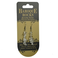 "Earrings Baroque Classic Rock Crystal ""Clarity"", 1 string"