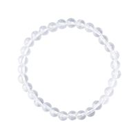 Bracelet, Rock Crystal, 06mm beads