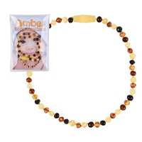 Baby Amber Necklace mixed colour, security clasp