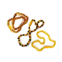 Starter Set Baby Amber Necklace, security clasp (3 pc/VE)