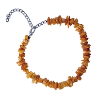 Dog Necklace Amber