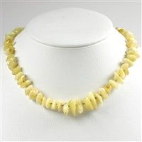 Necklace Amber Chips milky, appr. 45cm