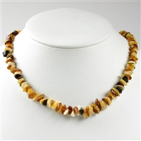 Necklace Amber Chips, multicolour, 45cm