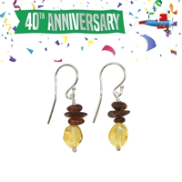 "Earrings Amber ""Lenna"""