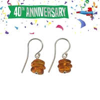 Earhook Amber Chips dark