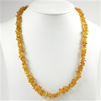 Necklace Amber Chips, light, 65cm