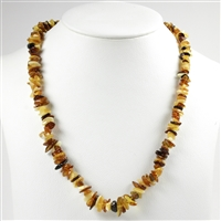 Necklace Amber Chips, multicolour, 65cm