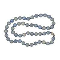 Necklace Beads, Blue Quartz B, 08mm/45cm