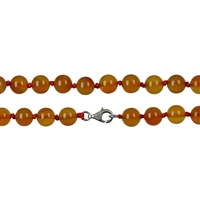 Necklace Beads, Carnelian (heated), 08mm/60cm
