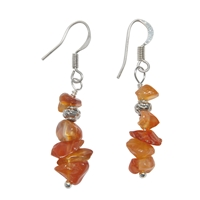 Chips Earrings, Carnelian (heated), appr. 4cm, for Stand-alone display
