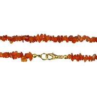 Necklace Chips Carnelian (heated), 45cm