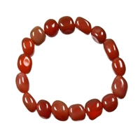 Bracelet Nuggets, Carnelian (heated), 18-22mm