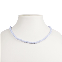 Necklace Bead, Blue Lace Agate, 04mm/45cm