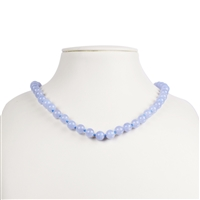 Necklace Beads, Blue Lace Agate, 08mm/45cm