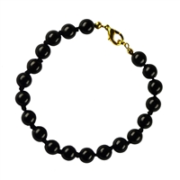 Bracelet Spheres, Onyx (dyed), 08mm, with Clasp
