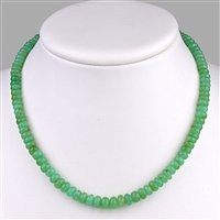 Necklace Button, Chrysoprase, 6-8mm/45cm