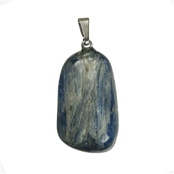 Pendant Tumbled Stone Kyanite with 925 Silver eyelet