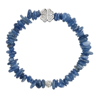 Bracelet Chips, Kyanite with Clover