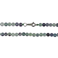 Necklace Bead, Fluorite, 04mm/45cm