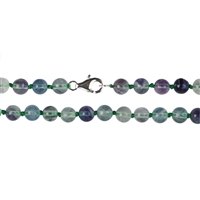 Necklace Bead, Fluorite, 06mm/45cm