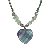 Heart Collier, Fluorite, for Stand-alone display