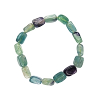 Bracelet Nuggets 10-12mm Fluorite