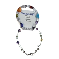 Wire Bracelet, Fluorite, beads 06mm, for Stand-alone display