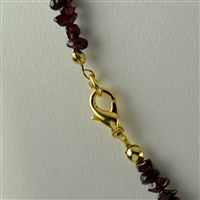 Necklace Chips, Garnet, 45cm