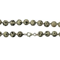 Necklace Beads, Dalmatian Stone, 08mm/60cm