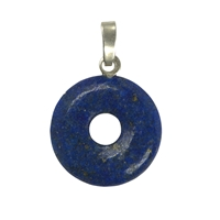 Pendant Donut Lapis A, Silver Loop, 15mm