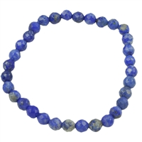 Bracelet, Lapis, 04mm beads, facetted