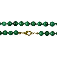 Necklace Beads, Malachite (stab.), 08mm/80cm