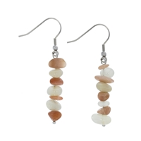 "EarringsBaroque Classic Moonstone ""Intuition"", 1 string"