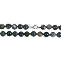 Necklace Beads, Moss Agate, 08mm/45cm