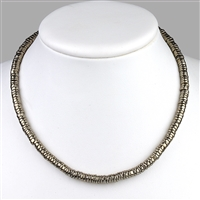 Necklace Slices, Pyrite, 5mm/45cm
