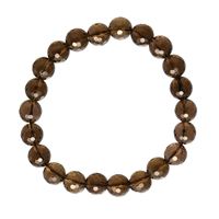 Bracelet, Smokey Quartz, 04mm beads, facetted