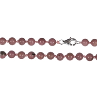 Necklace Beads, Rhodonite, 06mm/45cm