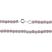 Necklace Bead, Rose Quartz, 04mm/45cm