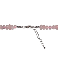"Collier Baroque Classic Rose Quartz ""Love"", 1 string"