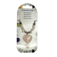 Heart Collier, Rose Quartz, for Stand-alone display