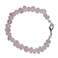"Bracelet Baroque Classic Rose Quartz ""Love"", 1 string"