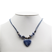 Heart Collier, Sodalite, for Stand-alone display