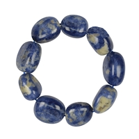 Bracelet, Sodalite, 18 - 22mm Nuggets